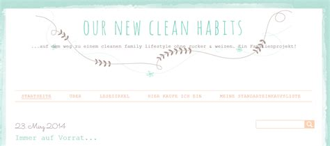 clean habits our new clean habits