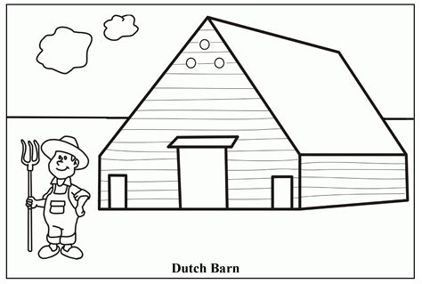 easy barn coloring pages barn coloring pages coloringsuite com