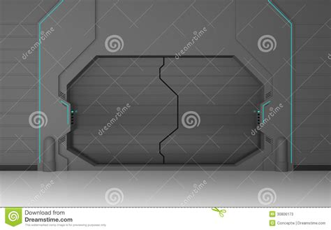 futuristic doors futuristic gate stock photos image 30806173