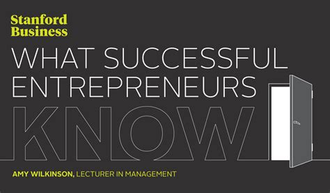 Stanford Mba Marketing by What Successful Entrepreneurs Stanford Graduate