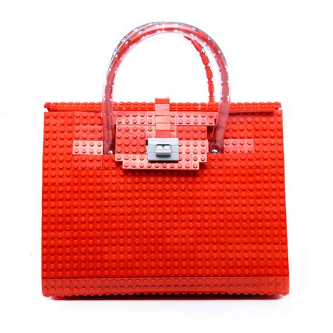 Is It A Bag Is It A Purse Its Topshops Raffia Crossbody Handbag by The Brick Bag A Purse Made From Lego Technabob