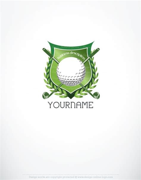 free golf logo design exclusive design golf logo free business card online
