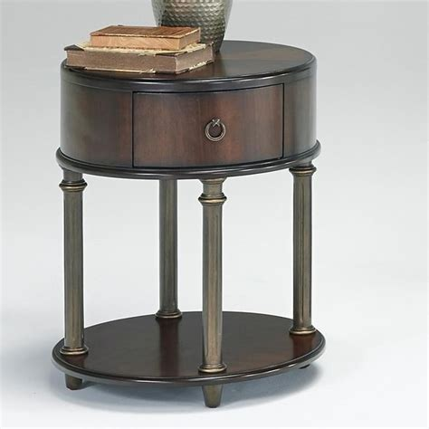 chair side table with power outlet progressive furniture regent court t434 03 oval end table