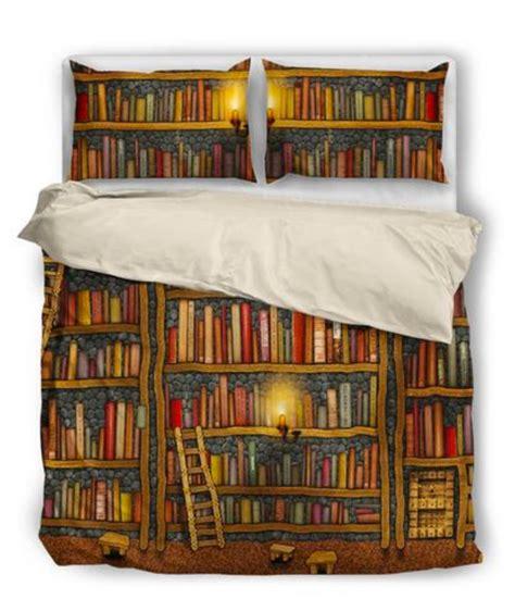 books to bed bookshelf book reader bedding set
