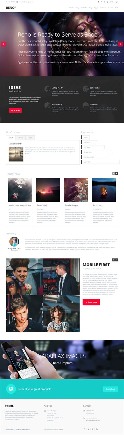 drupal themes list 5 best responsive parallax scrolling drupal themes 2015