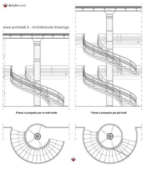 scale mobili dwg scala circolare pianta e prospetto
