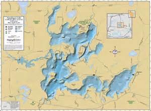 lake map of namakagon lake wall map