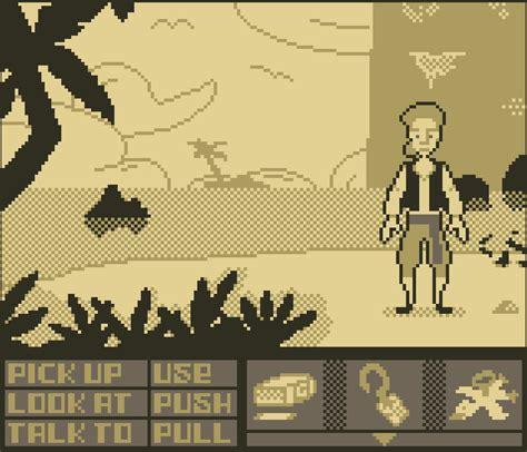 Gbc My Rajut Pocket Monkey gaming on the go curse of monkey island gameboy