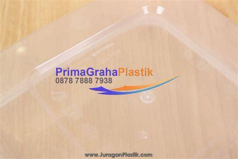 Kotak Bening Plastik Tahan Panas Untuk Microwave 1000 Ml sanpak kotak oven makanan 1000 ml sq square stock