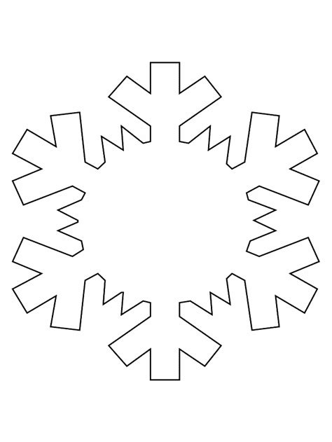 easy snowflake template s c r a p scraps creatively reused and recycled
