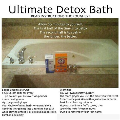 bathtub detox detox bath natural health beauty pinterest