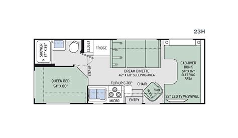 slide in cer floor plans 2016 thor freedom elite 23h cing