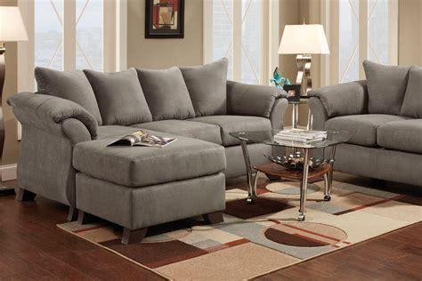 Microfiber Sectional Sofa With Ottoman Upton Microfiber Sofa With Floating Ottoman At Gardner White