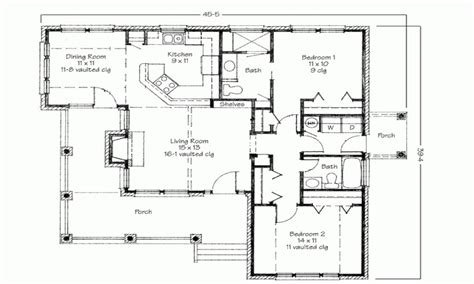 Floor Plan For 2 Bedroom House by Two Bedroom House Simple Floor Plans House Plans 2 Bedroom