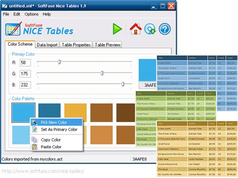 Table Generator Html by Softfuse Tables Create Onlline Reports Price Lists