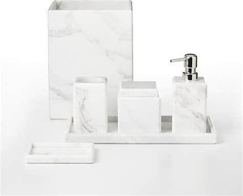 waterworks studio white marble bath accessories modern