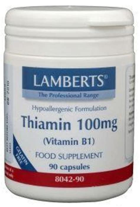 Vitamin B1 Detox by Lamberts Thiamin 100mg
