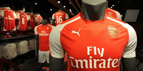 arsenal store arsenal club shop sold out of ladies puma home shirts