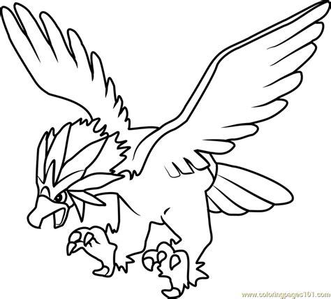 pokemon coloring pages braviary braviary pokemon coloring page free pok 233 mon coloring