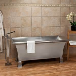 64 quot kendara rectangular stainless steel footed tub