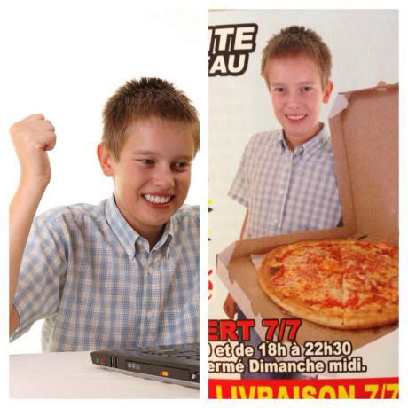 Internet Kid Meme - internet kid on an advertisement first day on the
