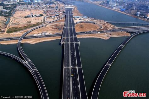 qingdao bridge jiaozhou bay bridge opens to traffic headlines stories