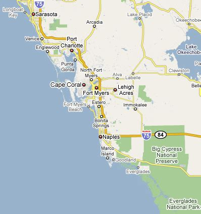 map of southwest florida map of west coast of florida html autos weblog