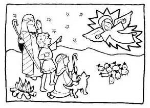 shepherds coloring pages christmas angels and shepherds