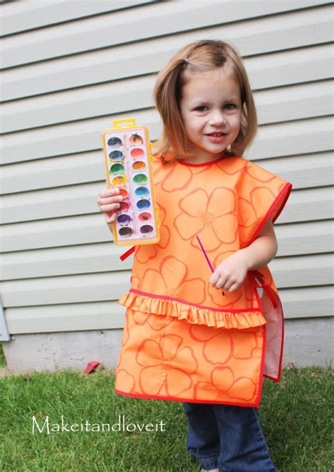 pattern for an art smock children s art smock make it and love it