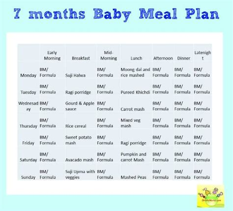 fruit 7 month baby can eat 7 month baby food chart meal plan for 7 months baby