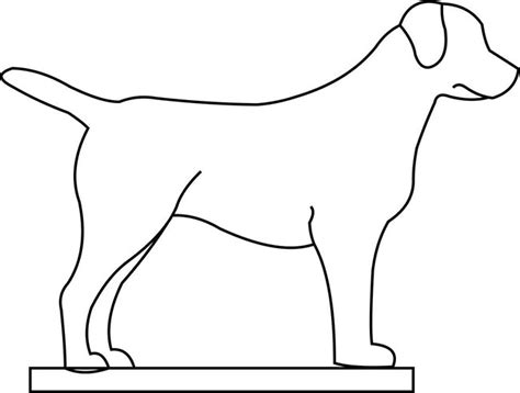 puppy outline template animal templates free premium templates