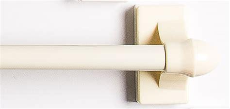 ivory curtain rod magnetic cafe curtain rod ivory skotz magne rod