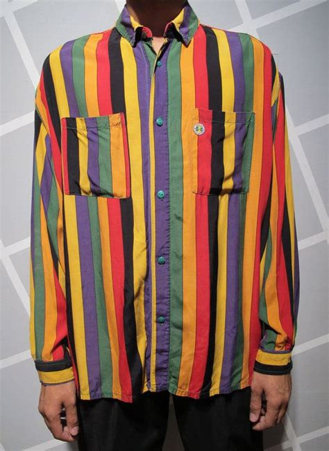 cross colors vintage 90s cross colours button up rayon shirt by