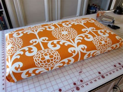 sewing bench cushions how to make a no sew fabric covered cushion bench
