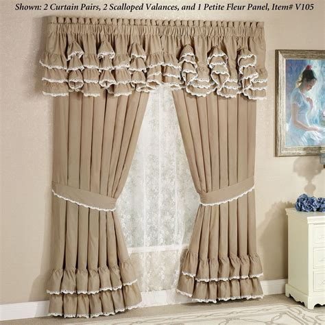 scalloped curtains antiquity scalloped valance window treatment