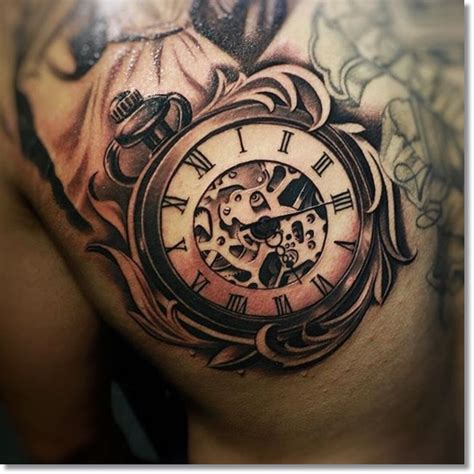pocket watch tattoos the top 30 pocket tattoos