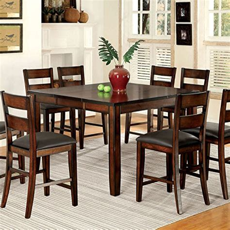 9pc dining room set 247shopathome idf 3187pt 9pc dining room sets brown