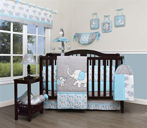 Elephant Baby Crib Bedding Geenny Boutique Baby 13 Nursery Crib Bedding Set Blizzard Blue Grey Elephant Wantitall