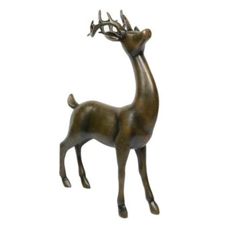 home accents holiday 18 in standing reindeer poly resin