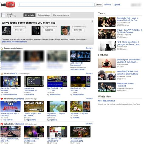 old youtube layout userscript how to switch back to youtube s old page design ghacks
