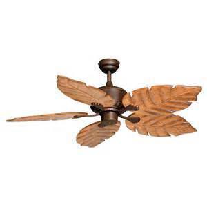 Palm Ceiling Fan With Light Shop Cascadia Lighting Palm 52 In Burnished Bronze