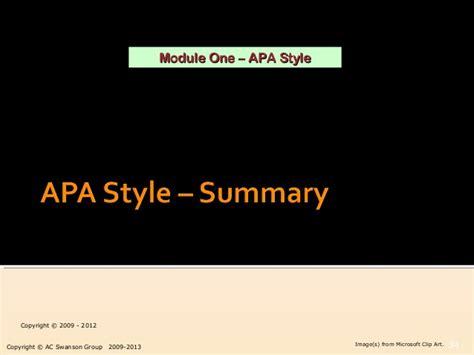 apa format video clip module 1 apa style