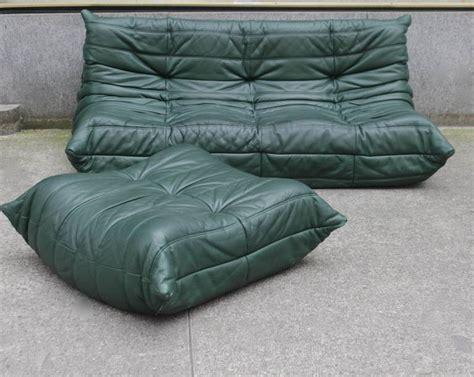 ligne roset ottoman togo ligne roset leather three seater sofa and ottoman at