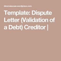 Sle Letter To Debt Collection Agency