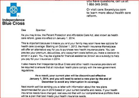 Letter To Cancel Dental Insurance Sle Cobra Open Enrollment Letters The Knownledge
