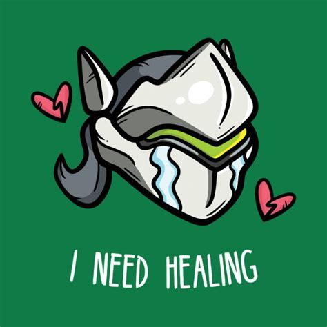 Cloud Wall Stickers i need healing overwatch t shirt teepublic