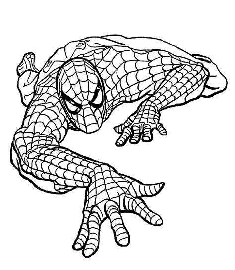 simple spiderman coloring page easy spiderman coloring pages for kids