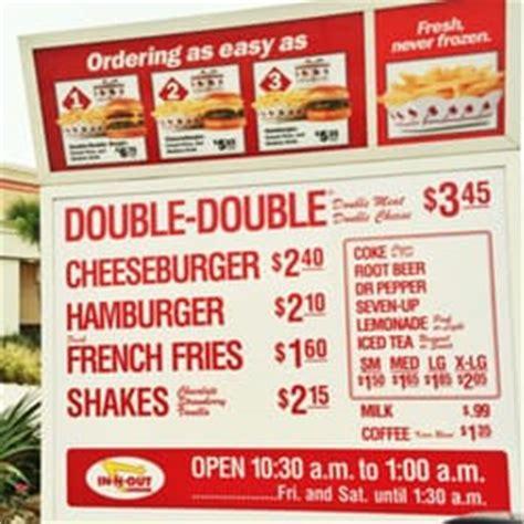 inn n out burger menu in n out burger 27 photos burgers 150 town center