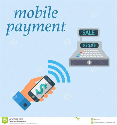 mobile payment software mobile payment stock vector illustration of