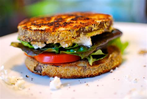 summer eggplant sandwiches